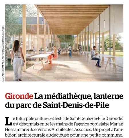 Marjan hessamfar joe v rons architectes associ s for Saint denis de pile 33